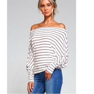 Striped OTS top